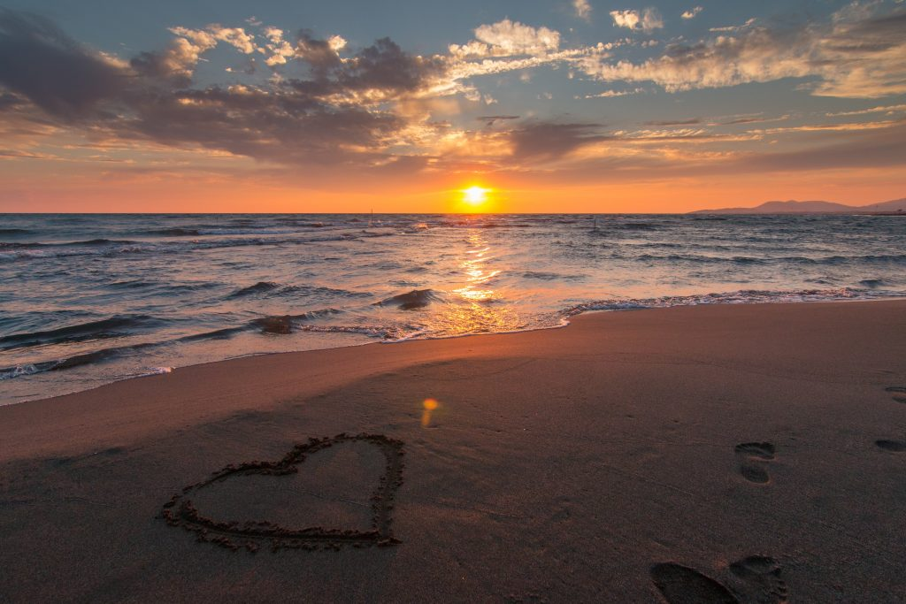 Hearts in the sand, the passion within